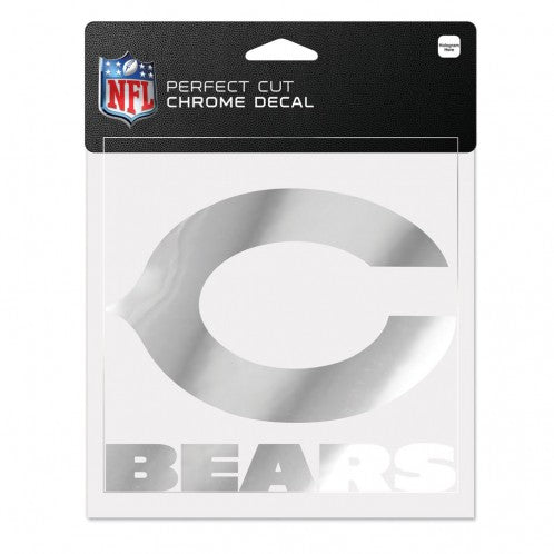 Chicago Bears Decal 6x6 Perfect Cut Chrome