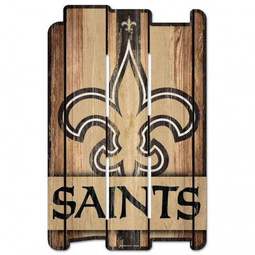 New Orleans Saints Wood Fence Sign