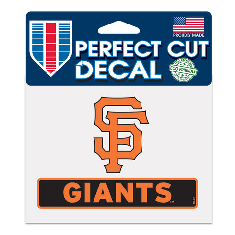 San Francisco Giants Decal  4.5x5.75 Perfect Cut Color
