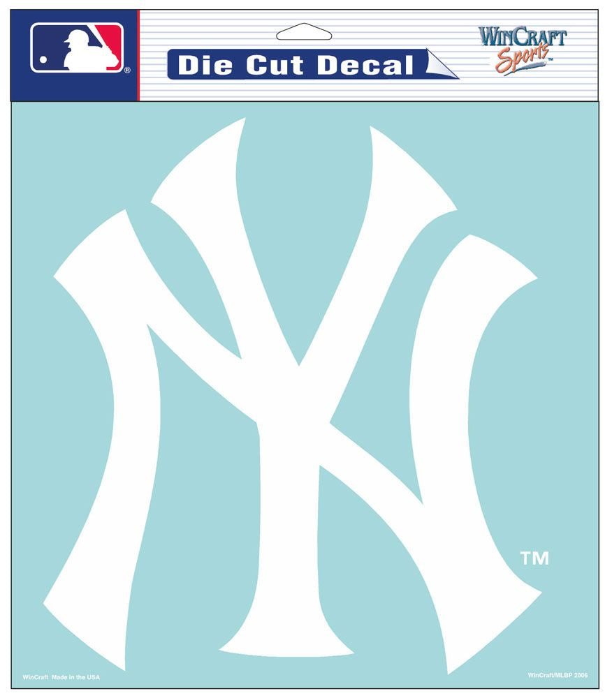 "New York Yankees Large Die-Cut Decal - 8""x8"" White"