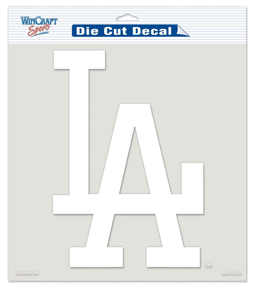 "Los Angeles Dodgers Large Die-Cut Decal - 8""x8"" White"