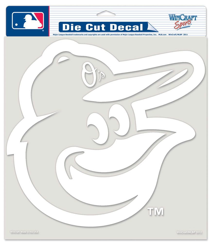 "Baltimore Orioles Large Die-Cut Decal - 8""x8"" White"