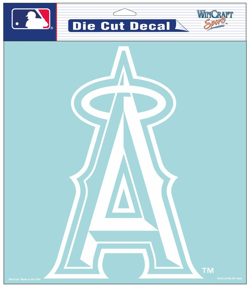 "Los Angeles Angels of Anaheim Large Die-Cut Decal - 8""x8"" White"