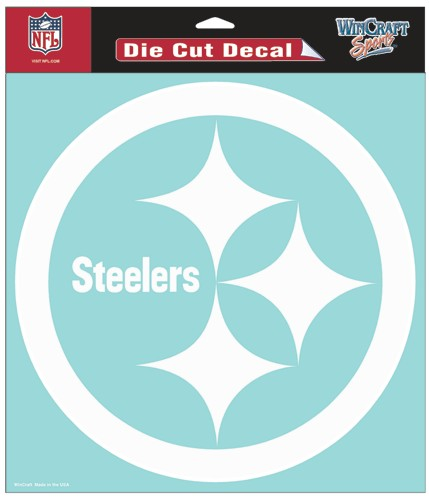 "Pittsburgh Steelers Large Die-Cut Decal - 8""x8"" White"