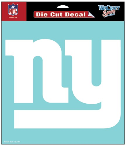 "New York Giants Large Die-Cut Decal - 8""x8"" White"