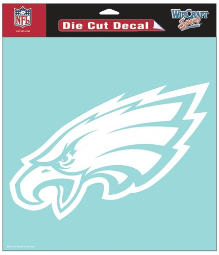 "Philadelphia Eagles Large Die-Cut Decal - 8""x8"" White"