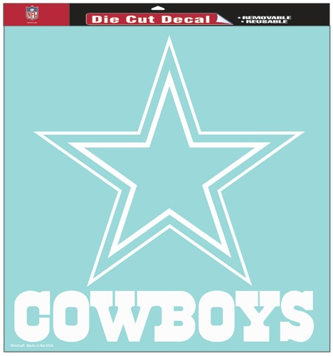 "Dallas Cowboys Large Die-Cut Decal - 8""x8"" White"