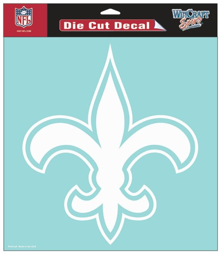 "New Orleans Saints Large Die-Cut Decal - 8""x8"" White"