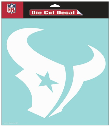 "Houston Texans Large Die-Cut Decal - 8""x8"" White"