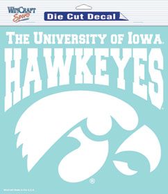 "Iowa Hawkeyes Large Die-Cut Decal - 8""x8"" White"