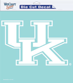 "Kentucky Wildcats Large Die-Cut Decal - 8""x8"" White"