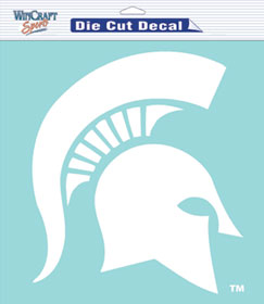 "Michigan State Spartans Large Die-Cut Decal - 8""x8"" White"