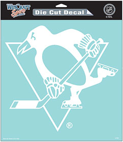 "Pittsburgh Penguins Large Die-Cut Decal - 8""x8"" White"