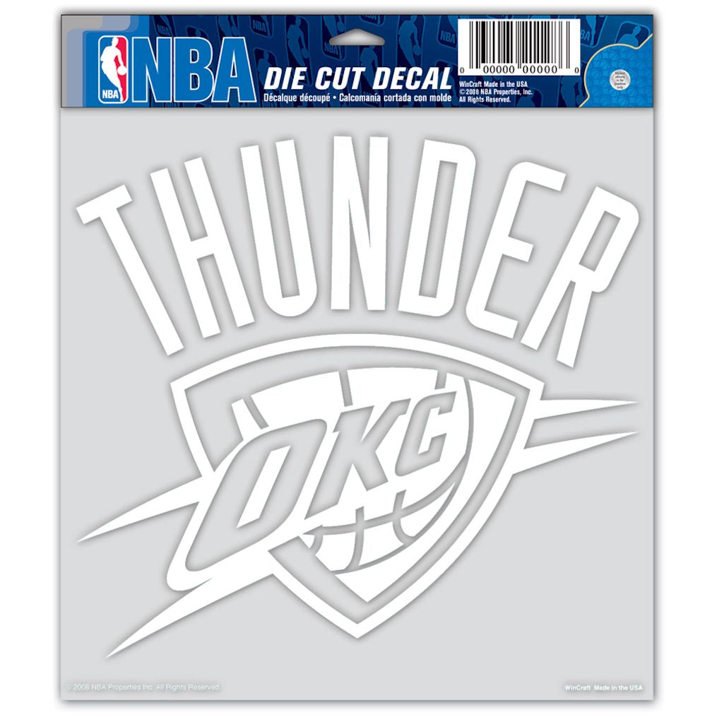"Oklahoma City Thunder Die-cut Decal - 8""x8"" White"