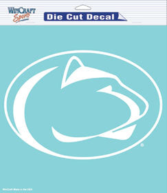 "Penn State Nittany Lions Large Die-Cut Decal - 8""x8"" White"