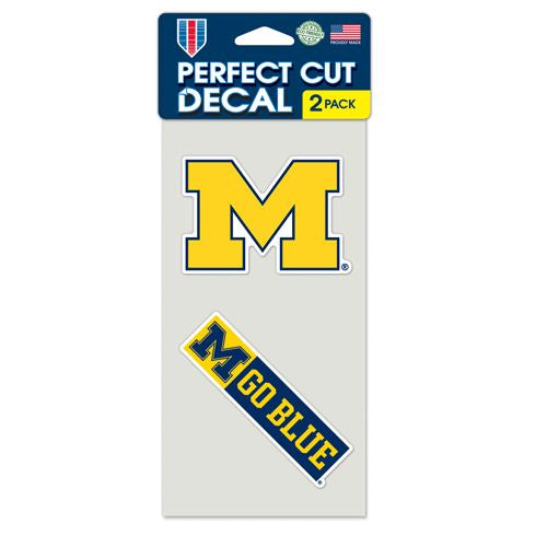 Michigan Wolverines Set of 2 Die Cut Decals