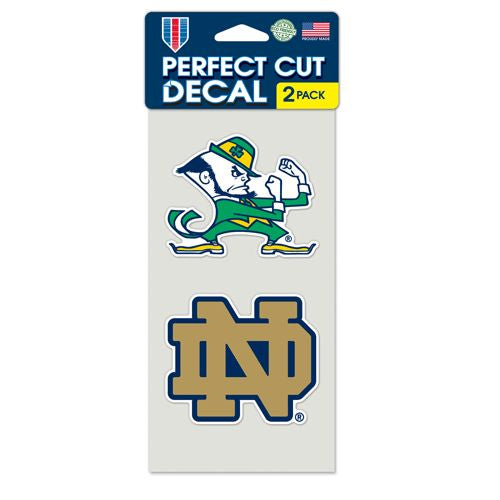 Notre Dame Fighting Irish Set of 2 Die Cut Decals