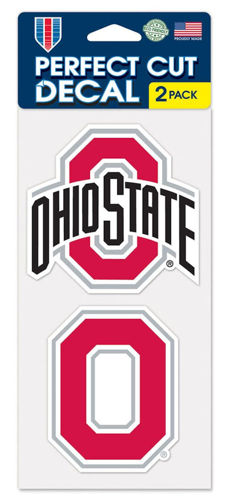 Ohio State Buckeyes Set of 2 Die Cut Decals