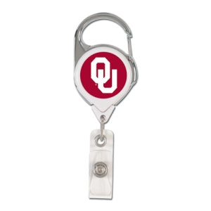 Oklahoma Sooners Retractable Premium Badge Holder