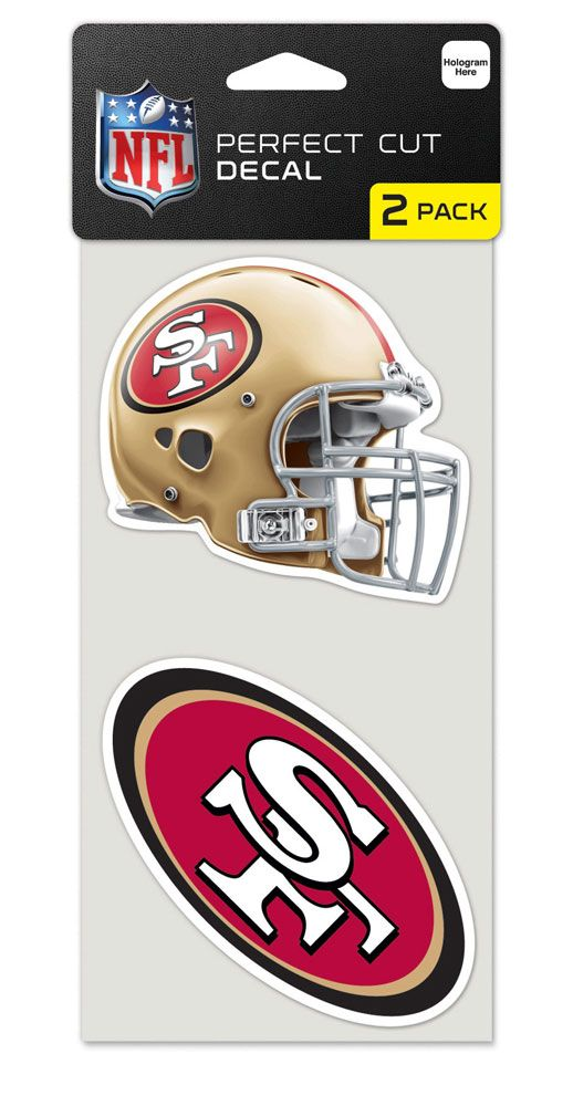 San Francisco 49ers Set of 2 Die Cut Decals