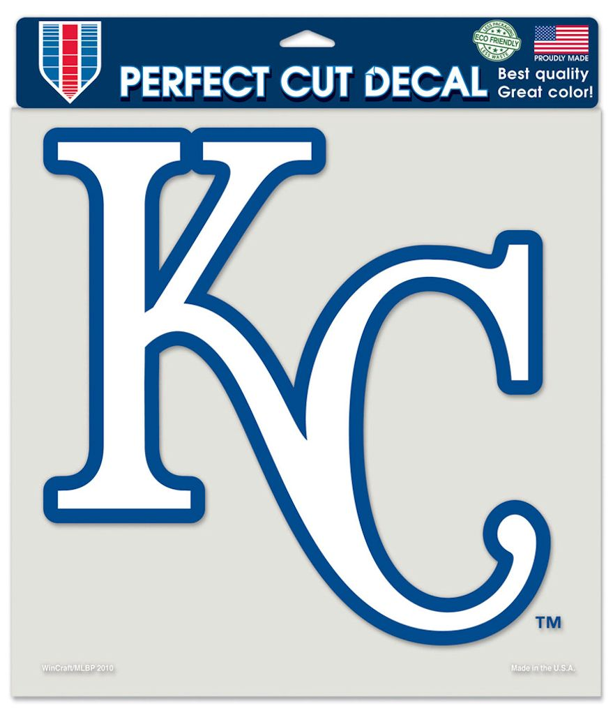 "Kansas City Royals Large Die-Cut Decal - 8""x8"" Color"