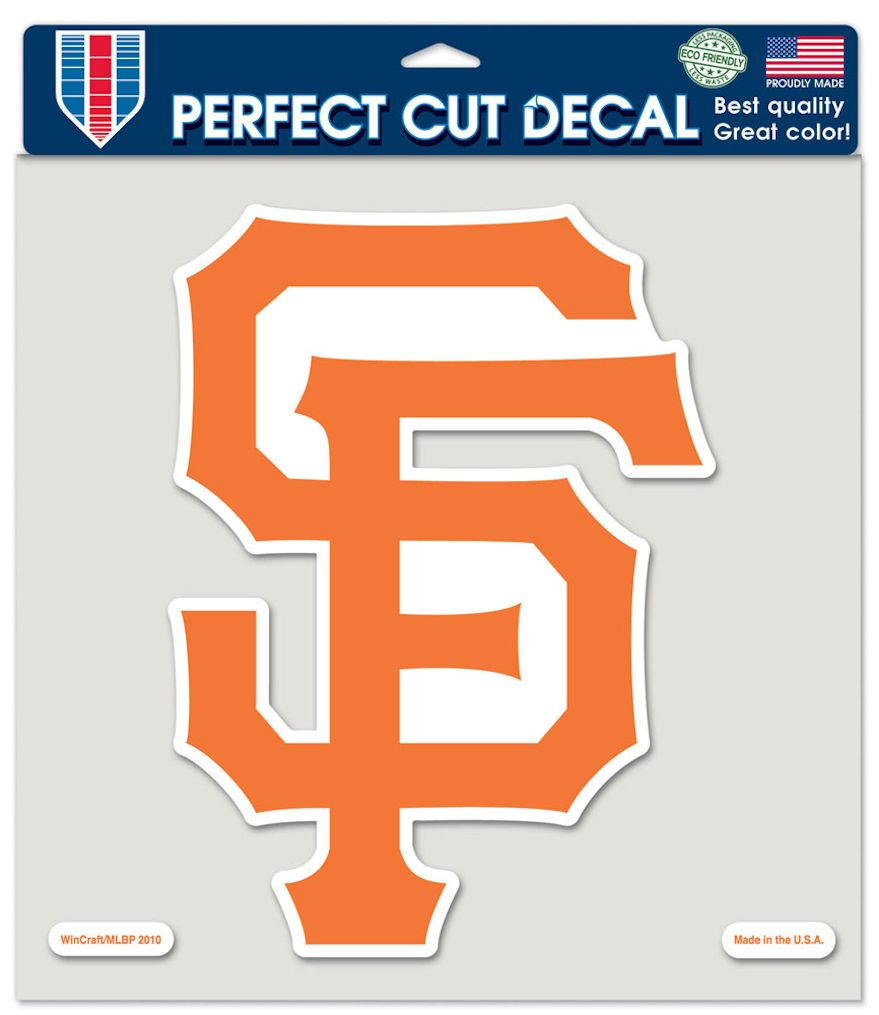 "San Francisco Giants Large Die-Cut Decal - 8""x8"" Color"