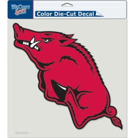 "Arkansas Razorbacks Large Die-Cut Decal - 8""x8"" Color"