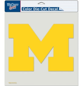 "Michigan Wolverines Large Die-Cut Decal - 8""x8"" Color"