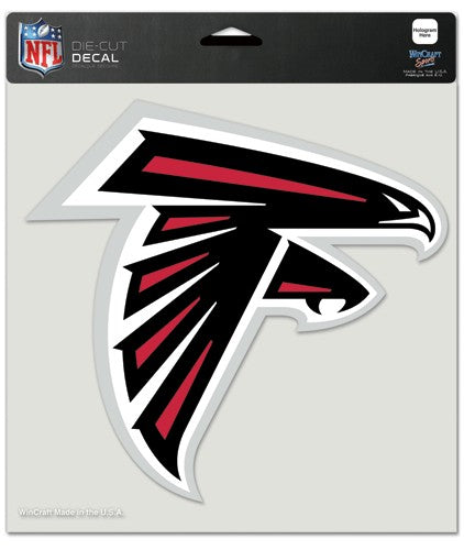 "Atlanta Falcons Large Die-Cut Decal - 8""x8"" Color"