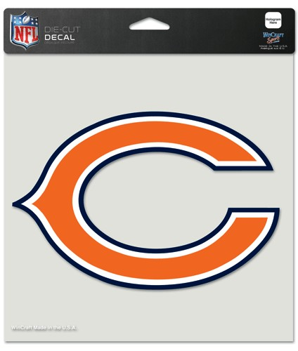 "Chicago Bears Large Die-Cut Decal - 8""x8"" Color"