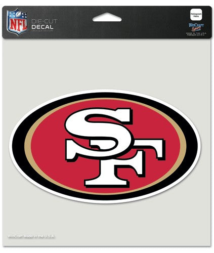 "San Francisco 49ers Large Die-Cut Decal - 8""x8"" Color"
