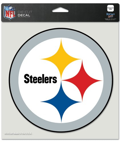 "Pittsburgh Steelers Large Die-Cut Decal - 8""x8"" Color"