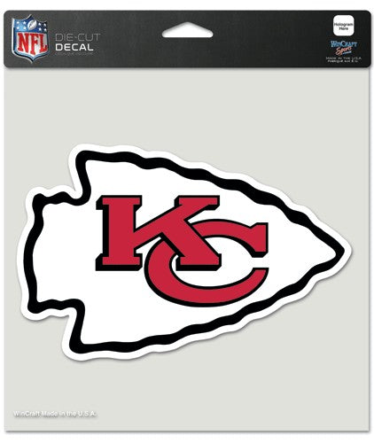 "Kansas City Chiefs Large Die-Cut Decal - 8""x8"" Color"
