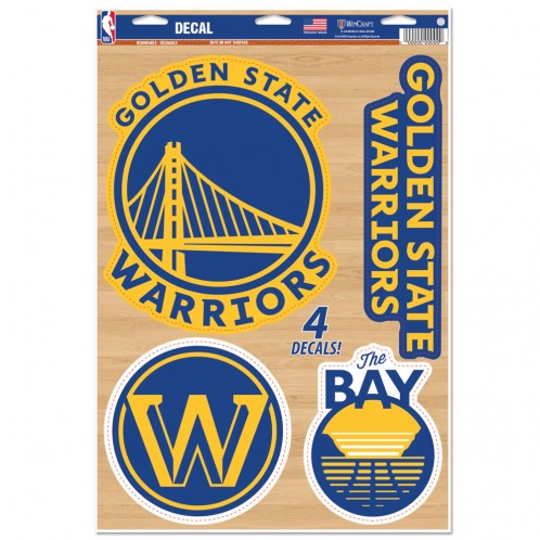 Golden State Warriors Decal  11x17 Cut To Logo