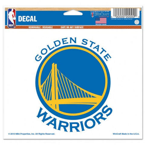 Golden State Warriors 5x6 Color Decal