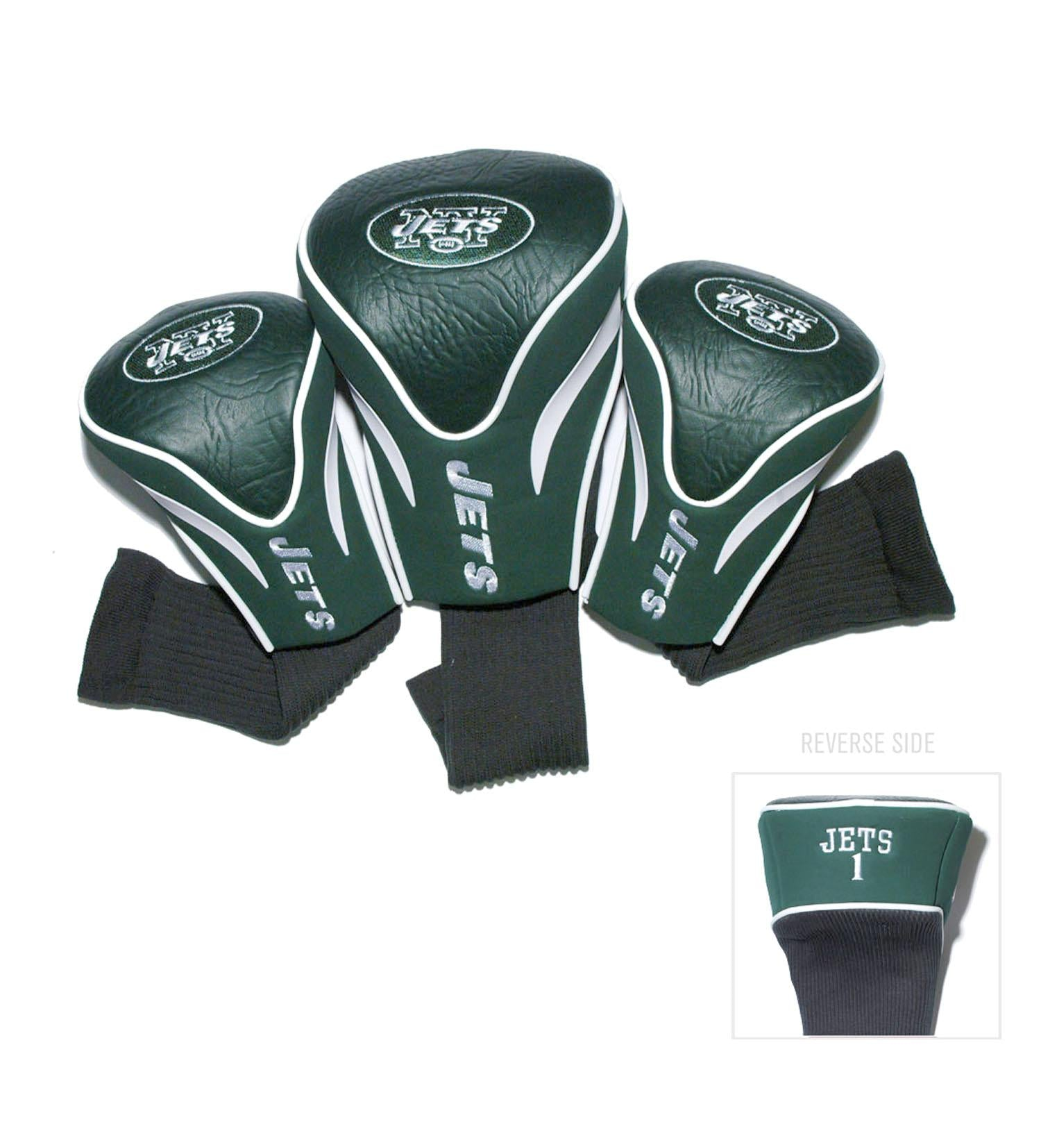 New York Jets 3 Pack Contour Head Covers