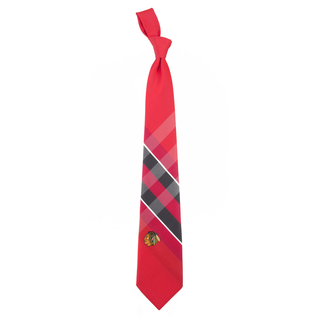 Chicago Blackhawks Grid Style Neck Tie