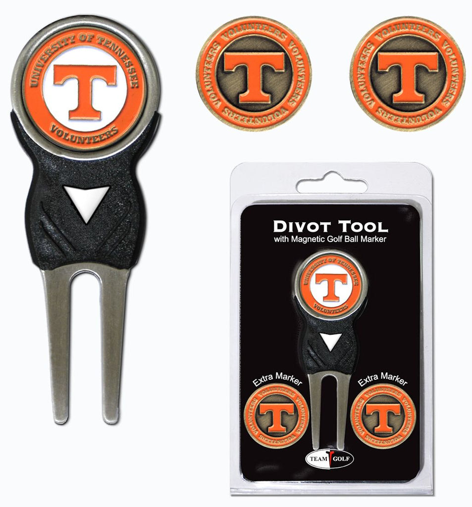 Tennessee Volunteers Golf Divot Tool with 3 Markers