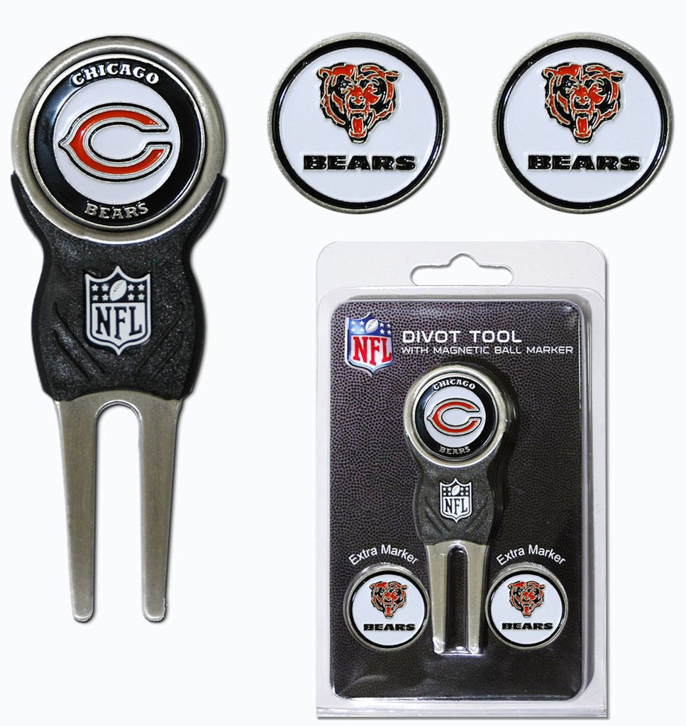 Chicago Bears Golf Divot Tool with 3 Markers