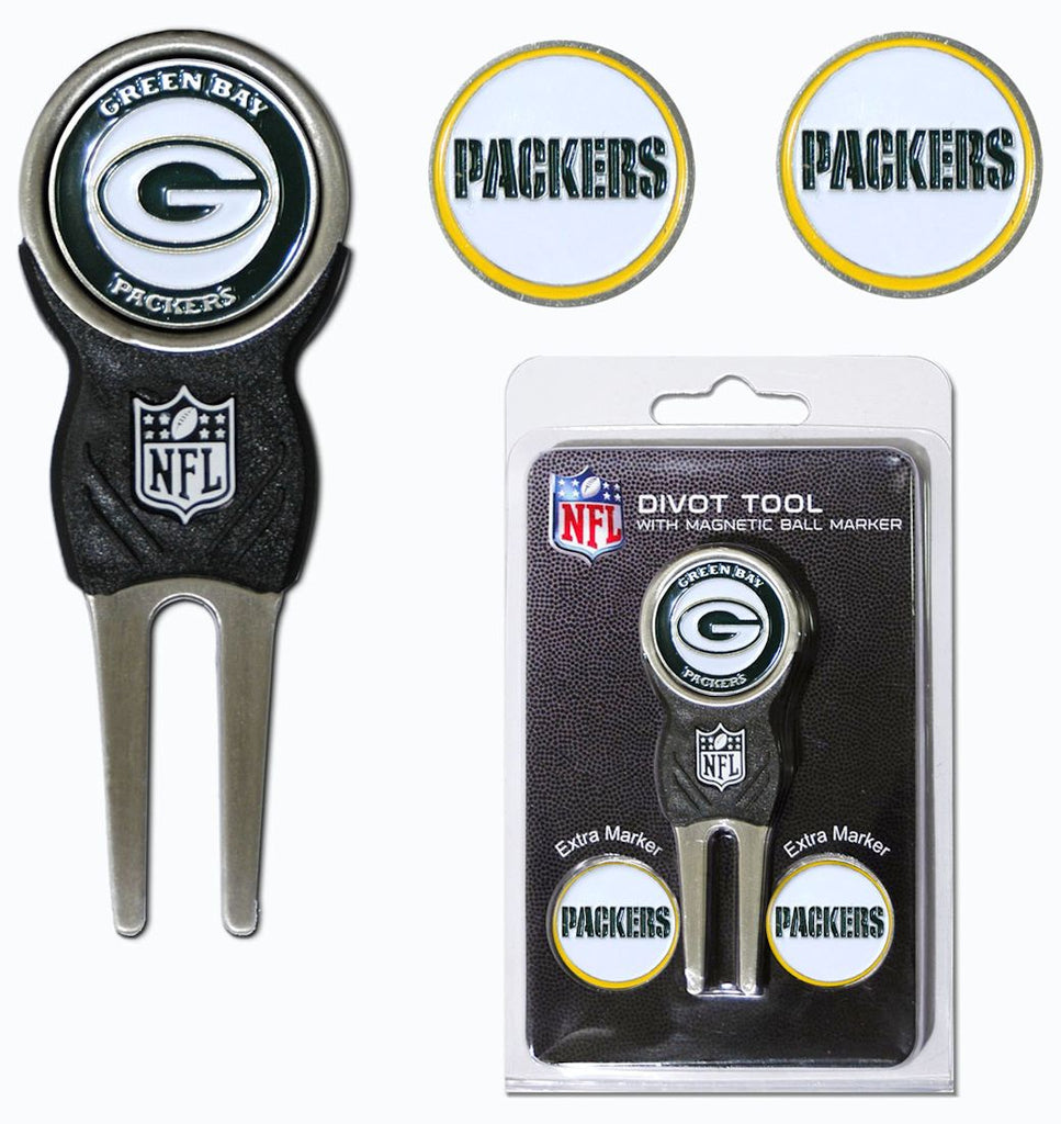 Green Bay Packers Golf Divot Tool with 3 Markers
