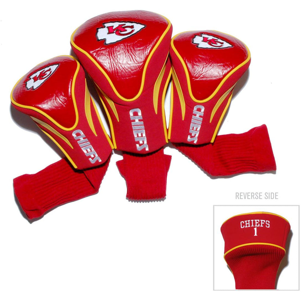 Kansas City Chiefs Golf Club 3 Piece Contour Headcover Set