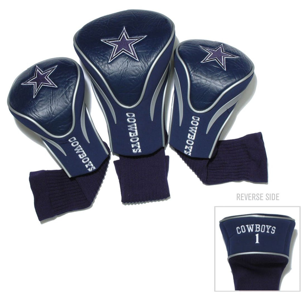 Dallas Cowboys Golf Club 3 Piece Contour Headcover Set