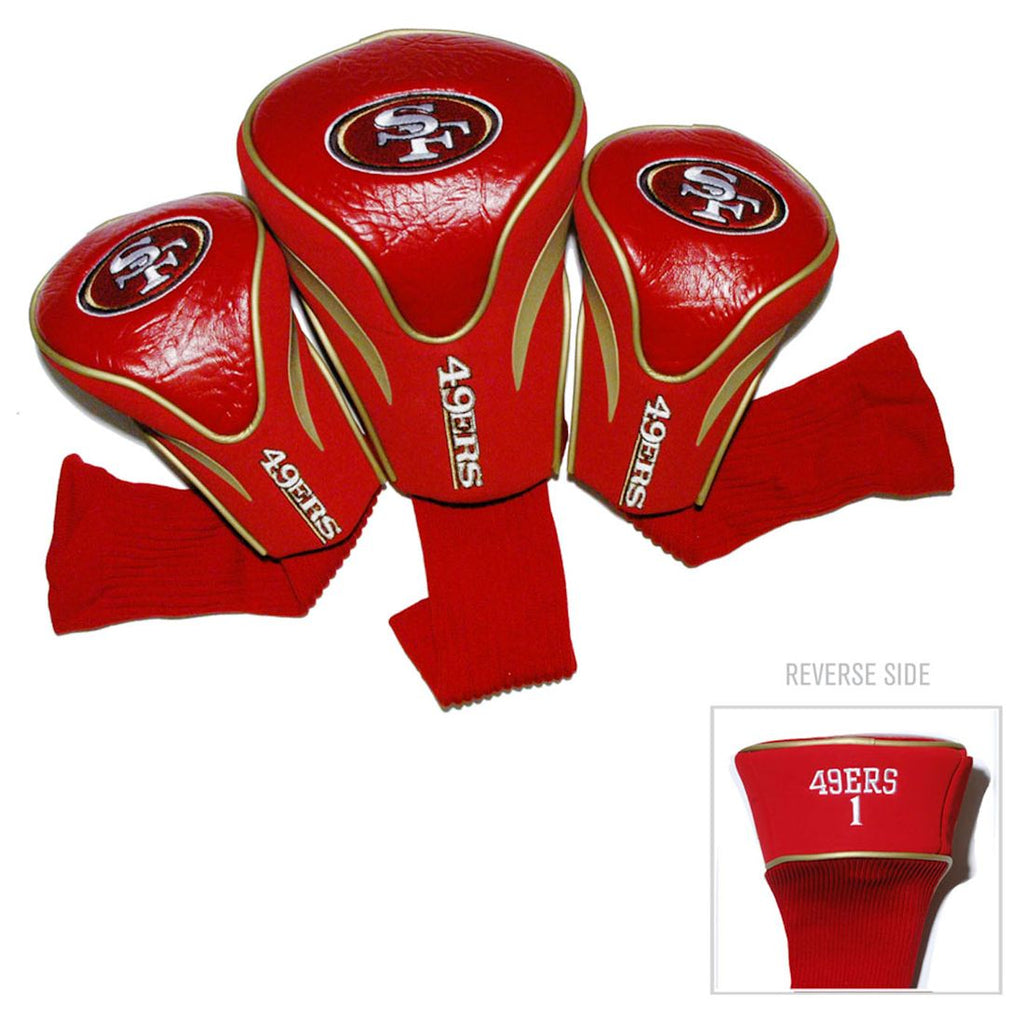 San Francisco 49ers Golf Club 3 Piece Contour Headcover Set