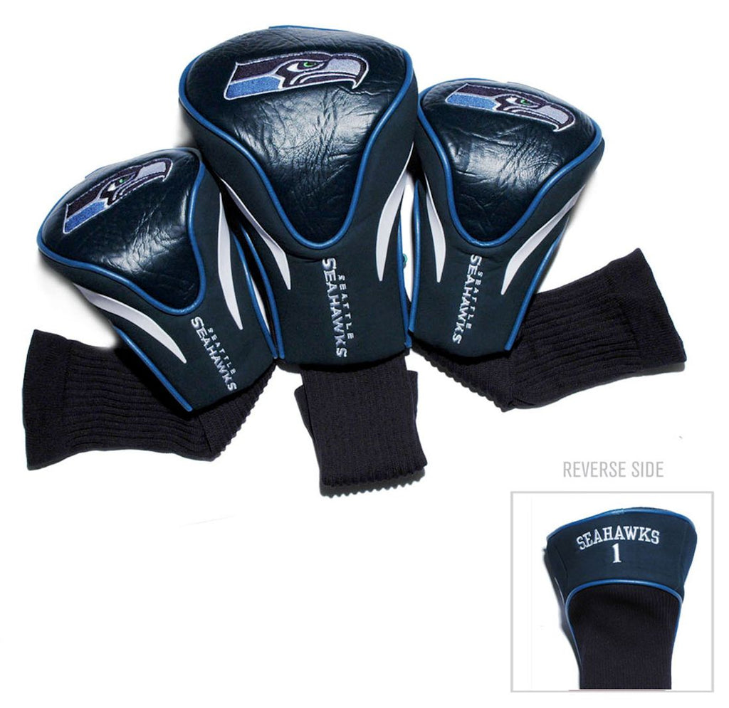 Seattle Seahawks Golf Club 3 Piece Contour Headcover Set