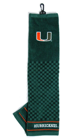 "Miami Hurricanes 16""x22"" Embroidered Golf Towel"