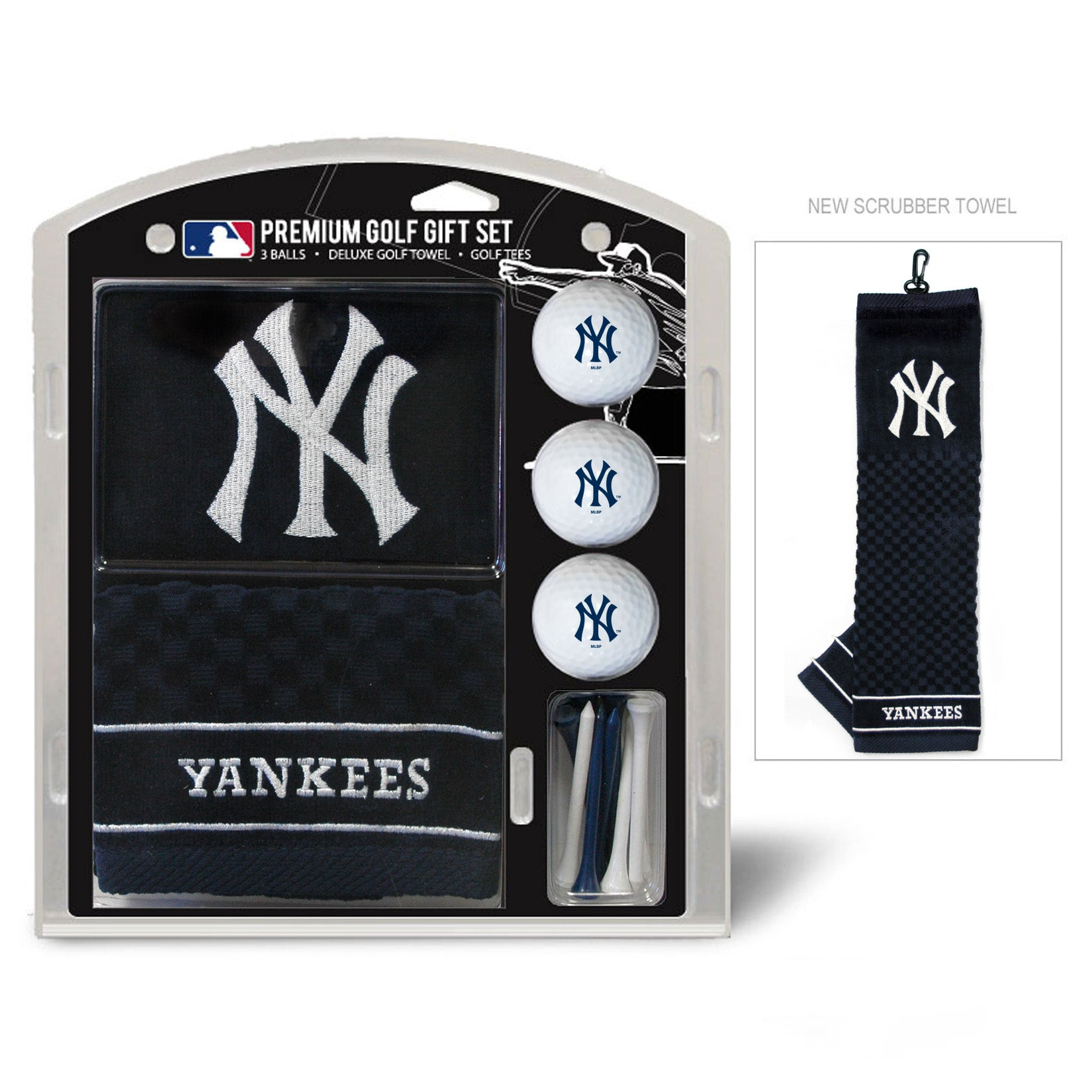 New York Yankees Golf Gift Set with Embroidered Towel