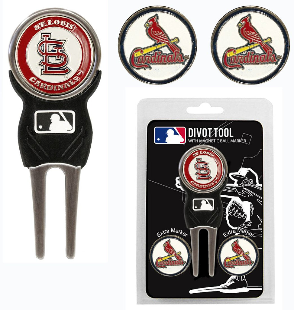 St. Louis Cardinals Golf Divot Tool with 3 Markers
