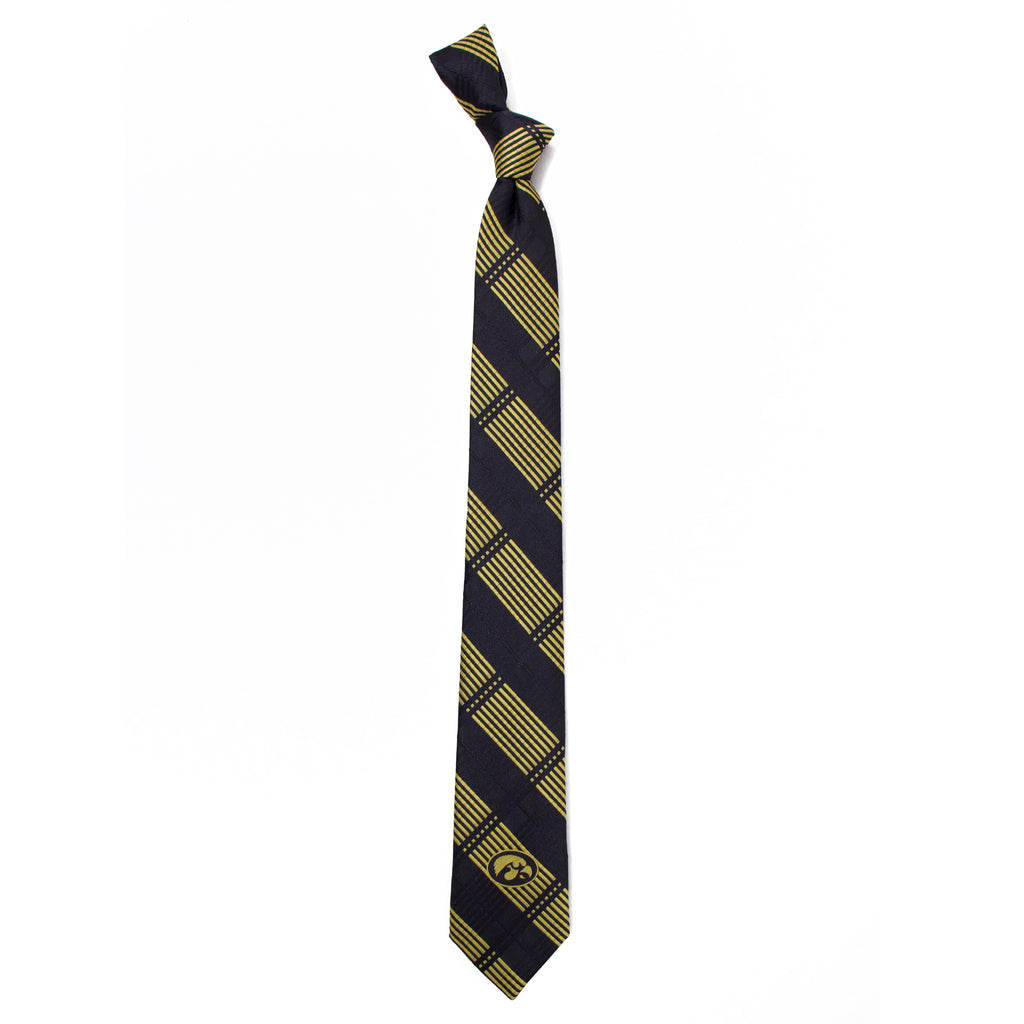 Iowa Hawkeyes Skinny Plaid Style Neck Tie