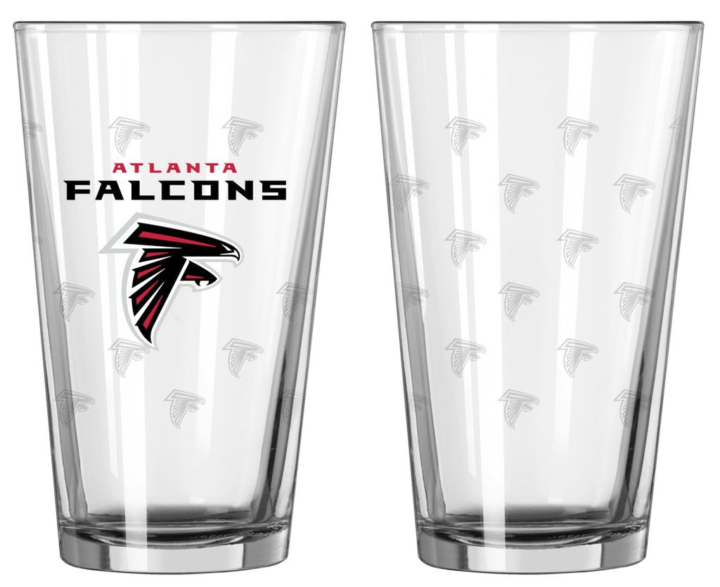Atlanta Falcons Satin Etch Pint Glass Set of 2