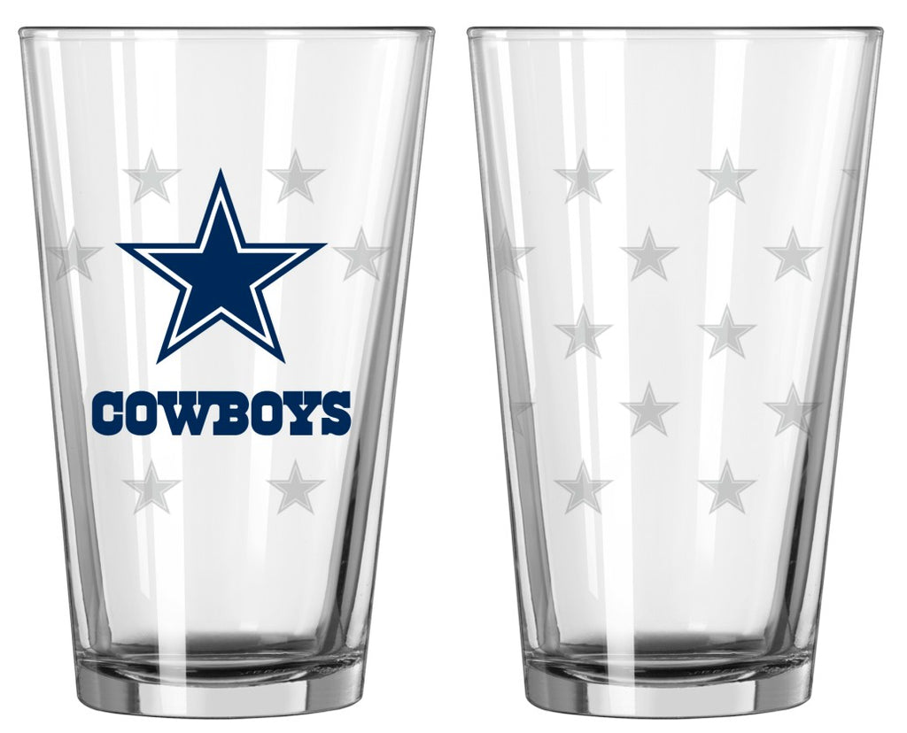 Dallas Cowboys Satin Etch Pint Glass Set of 2